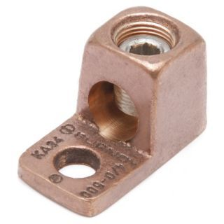 BURNDY Conector Mecánico, Cobre, Tamaño Máx. del Conductor: 1/0 AWG Trenzado   22C147|KA25   Grainger