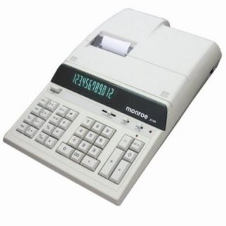 Monroe Systems for Business Printing Calculator   Ivory   12 Digit Display 8130