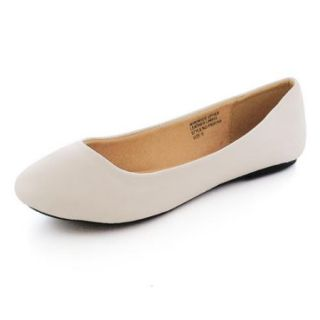 Alpine Swiss Pierina Women's Ballet Flats Leather Lined Classic Slip On Shoes White Size 8