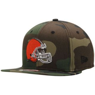 Cleveland Browns New Era State Clip Original Fit 9FIFTY Snapback Adjustable Hat   Camo