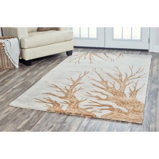 Arden Loft Hand tufted Natural Tree Trunks Lewis Manor Collection Wool