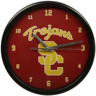 USC Trojans Black Rim Basic Clock