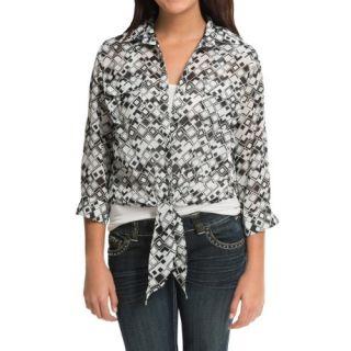 Cruel Girl Chiffon Printed Shirt (For Women) 9995Y 89