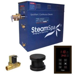 SteamSpa Oasis 4.5kW QuickStart Steam Bath Generator Package with Built In Auto Drain in Polished Oil Rubbed Bronze OAT450OB A