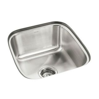 STERLING Springdale Undermount Stainless Steel 16 in. Single Bowl Kitchen Sink 11448 NA