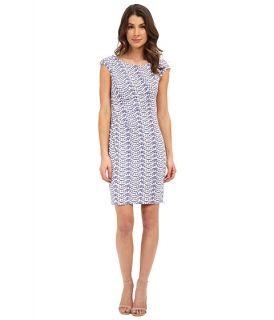 Donna Morgan Short Sleeve Rouch Side Zip Shoulder Jersey Dress