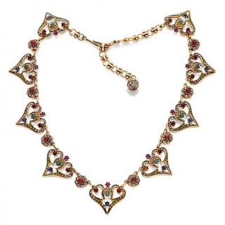 "Heidi Daus ""Seductive Fantasy"" Multicolored Crystal 16 1/4"" Station Necklace   6924673"