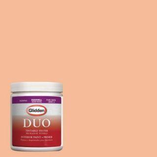 Glidden DUO 8 oz. #HDGO19 True Peach Latex Interior Paint Tester HDGO19 08D