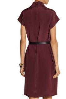 Belted wrap effect silk dress  Derek Lam