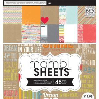 MAMBI Paper Pad 12inX12in 48/Pkg Inspiration Quotes   16366593