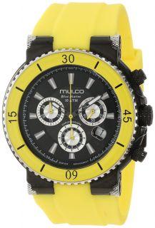 Mulco Blue Marine Black Dial Yellow Silicone Unisex Watch MW370603099
