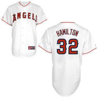 Josh Hamilton Los Angeles Angels of Anaheim #32 Majestic Replica Jersey   White