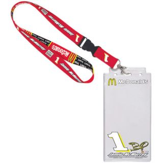 Jamie McMurray 2013 Credential Holder with Lanyard   Red