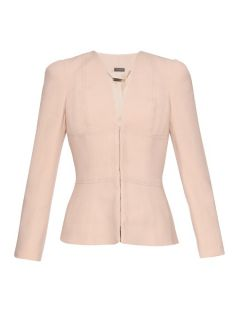 V neck twill tailored jacket  Alexander McQueen US