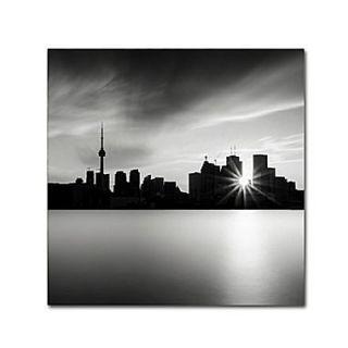 Trademark Fine Art Dave MacVicar Silver City  14 x 14 (ALI0852 C1414GG)