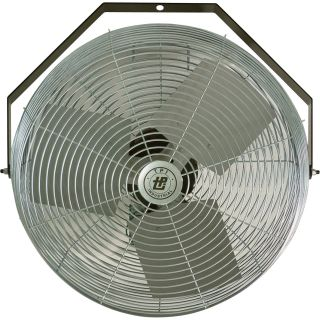 TPI Industrial Mounted Workstation Fan — 24in., 1/8 HP, 5,850 CFM, 120 Volt, Model #U-24-TE  Workstation Fans