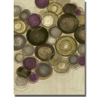Jeni Lee Purple Whimsy Panel I, II, III, and IV 4 piece Canvas Art