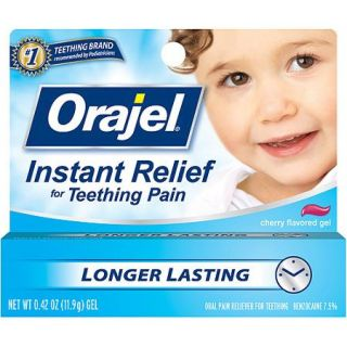 Orajel: Baby Orajel For Teething Cherry Flavored Gel Oral Pain Reliever, 0.42 oz