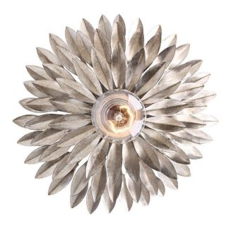 Crystorama 500 SA Broche 1 Light Wall Sconce in Antique Sliver