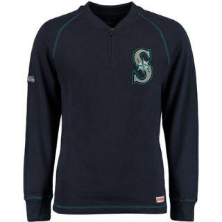 Seattle Mariners Stitches Half Zip Pullover Jacket   Navy