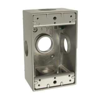 1 Gang Weatherproof Box with Five 3/4 in. Outlets 5332 0