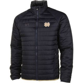 Notre Dame Fighting Irish Under Armour Quilted Puffy Performance Jacket – Navy Blue/Charcoal