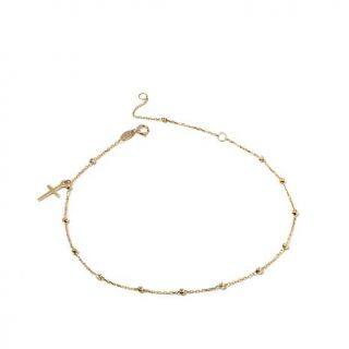 Michael Anthony Jewelry® 10K Yellow Gold Anklet with Cross Charm   8151397