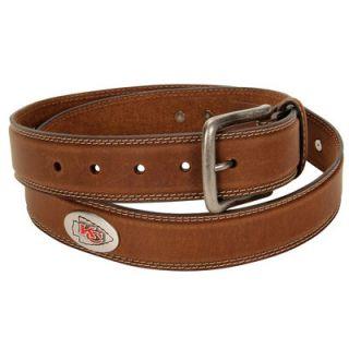 Kansas City Chiefs Crazy Horse Leather Belt   Brown