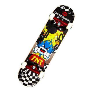 "Punisher Skateboards TNT 31"" Double Kick Tail Concave Deck Complete Skateboard    Punisher Skateboards"