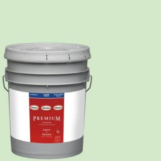 Glidden Premium 5 gal. #HDGG42D Mint Shake Satin Latex Interior Paint with Primer HDGG42DP 05SA