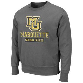 Marquette Golden Eagles Pioneer Pullover Sweatshirt   Charcoal