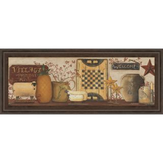 Classy Art Wholesalers Village Welcome by Pam Britton Framed Painting