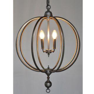 Globe 4 Light Candle Chandelier