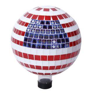 American Flag Gazing Globe