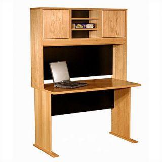 Rush Furniture Modular Real Oak Wood Veneer Standard Desk Shell with