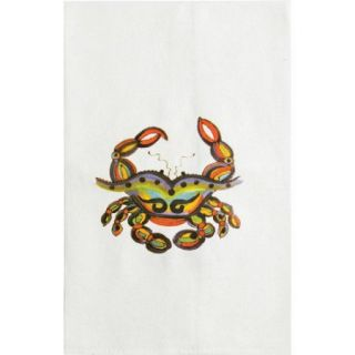 Thompson and Elm Dana Wittman Coastal Crab Fabric Hand Towel