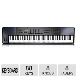 M Audio Oxygen 88 USB MIDI Keyboard Controller   88 Keys, 8 Assignable Knobs, 9 Assignable Faders, DirectLink Mode, ProTools Compatible, Ableton Live Lite, Music creation software   9900 53021 12