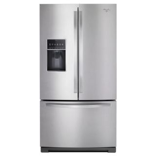 Whirlpool 26.8 cu ft French Door Refrigerator with Single Ice Maker (Monochromatic Stainless Steel) ENERGY STAR