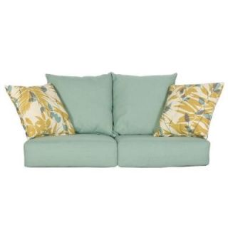 Hampton Bay Haver Hill IV Replacement Outdoor Loveseat Cushions 151 062 LS CSH