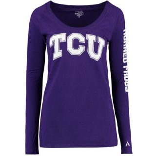 TCU Horned Frogs Alta Gracia (Fair Trade) Womens Isabel Relaxed Fit Long Sleeve T Shirt   Purple