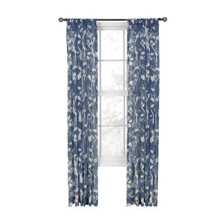 Style Selections Quinby 84 in China Blue Polyester Back Tab Sheer Single Curtain Panel