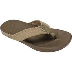 Mens Crocs Santa Cruz II Flip Khaki/Walnut   15410811