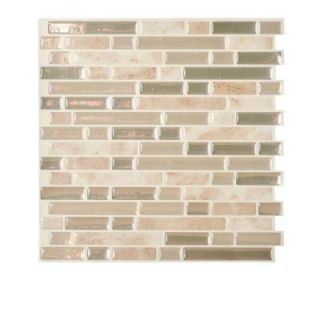 Smart Tiles Bellagio 10 in. x 10.13 in. Mosaic Decorative Wall Tile in Sabia (6 Pack) SM1043 6