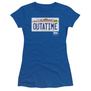 BACK TO THE FUTURE/OUTATIME PLATE   S/S JUNIOR SHEER   ROYAL   2X