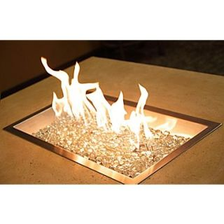 The Outdoor GreatRoom Company Steel / Glass Gas Fire Pit Burner; 12 x 42