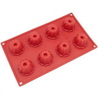 Freshware 8 Cavity Silicone Mini Bundt and Coffe Cake Mold   Red   7309909