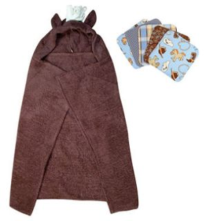 Trend Lab Hooded Towel and Wash Cloth Set   Horse   6 pc.