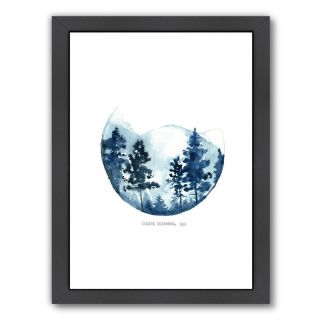 Blue Mountain by Claudia Liebenberg Framed Graphic Art by Americanflat