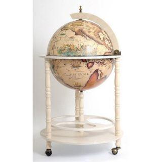 Old Modern Handicrafts Globe Drinks Cabinet Floor Stand White