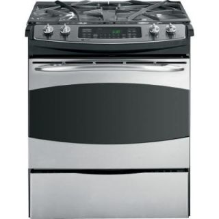 GE Profile 4.1 cu. ft. Slide In Dual Fuel Range with Self Cleaning Convection Oven in Stainless Steel P2S975SEPSS